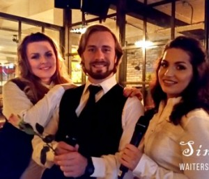 Singing Waiters for hire with Irish Wedding Pages